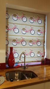 Roman Blind Kitchen - Bicycles